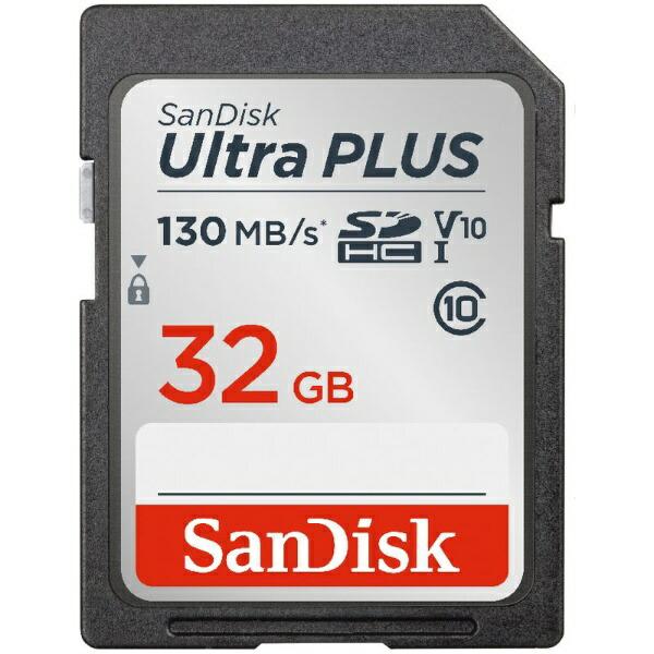 サンディスクSanDiskSDHCカードUltraPLUS(ウルトラプラス)SDSDUW3-032G-JNJIN[32GB/Class10][SDSDUW3032GJNJIN]
