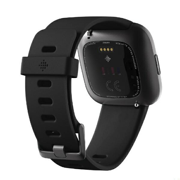 FitbitフィットビットFitbitVersa2Alexa搭載スマートウォッチBlack/CarbonL/SサイズFB507BKBK-FRCJKブラックカーボン[時計versa2バーサヴァーサ][FB507BKBKFRCJK]