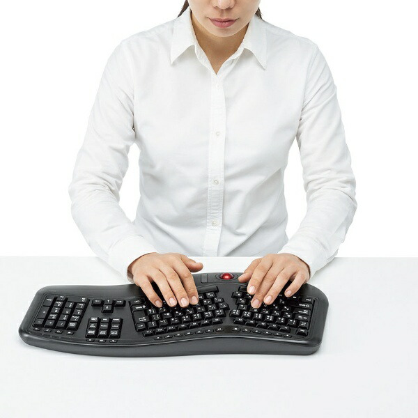 サンワサプライSANWASUPPLYキーボードブラックSKB-ERG6BK[USB/ワイヤレス][SKBERG6BK]