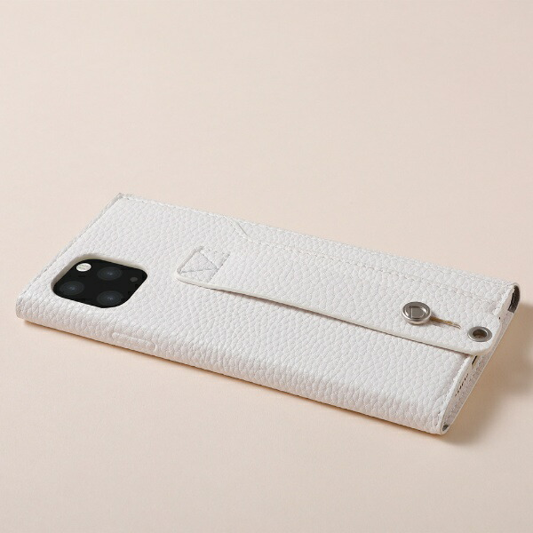 DEFFディーフiPhone11ProMax6.5インチ用高級PUレザーケース<Clings>ホワイトDCS-IPC19LPUWH