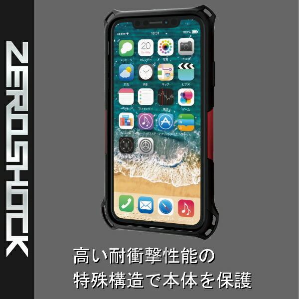 エレコムELECOMiPhone116.1インチ対応ZEROSHOCKスタンダードレッドPM-A19CZERORD
