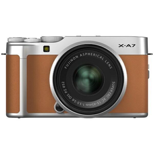 富士フイルムFUJIFILMX-A7LK-CAミラーレス一眼カメラレンズキットFX-A7LK-CAキャメル[ズームレンズ][FXA7LKCA]
