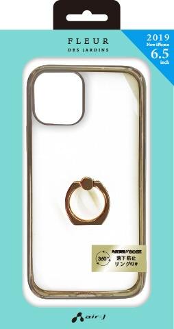 エアージェイair-JiPhone11ProMax6.5インチスマホリング付メタルカラーフレームGDACP19LMRGD
