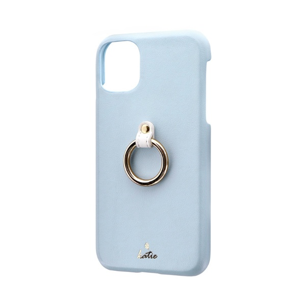 MSソリューションズiPhone116.1インチSHELLRINGKatieリング付ケースブルーLP-IM19SRKBL