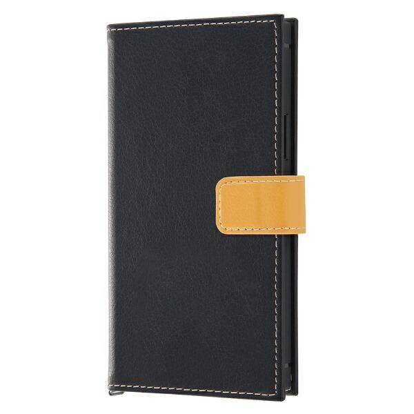 レイアウトrayoutiPhone11Pro5.8インチ耐衝撃手帳レザーTETRA2トーンカラー/BK/オレンジRT-P23TBC6/BOR