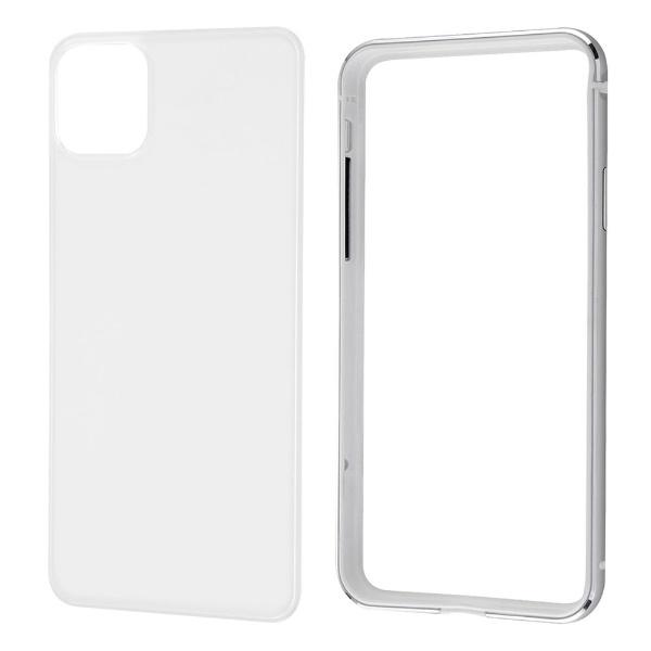 レイアウトrayoutiPhone11ProMax6.5インチアルミバンパー+背面パネル(クリア)/シルバーRT-P22AB/SVM