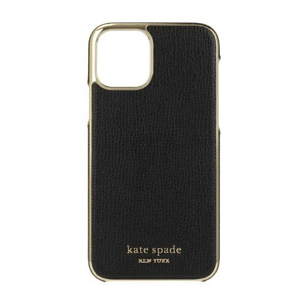 ケイト・スペードニューヨークkatespadenewyorkiPhone11Pro5.8インチInlayWrapblackpuKSIPH-139-BLKC