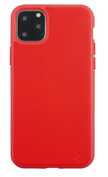 AEGISiPhone11ProMax6.5インチECOLEATHER/ECOBACKSHELLCASE/RedUUIPFFHS14
