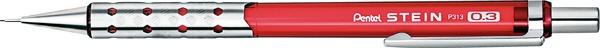 ぺんてるPentel[シャープペン]シュタイン(0.3mm)P313-CBクリアレッド