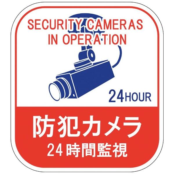 日本緑十字JAPANGREENCROSS緑十字ステッカー標識防犯カメラ・24時間監視100×90mm5枚組エンビ047127