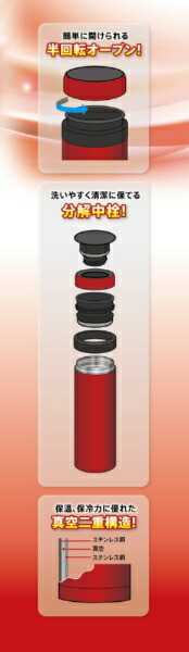 タフコtafuco半回転マグ保温・保冷対応ステンレスマグ500mlPIT(ピット)カシスF-2689[F2689]
