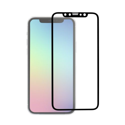 OWLTECHオウルテックiPhone11ProMax/XsMax6.5インチ画面保護ガラス全面保護スタンダードガラス0.26mm厚PETフレームマットOWL-GPIB65F-BAGブラック