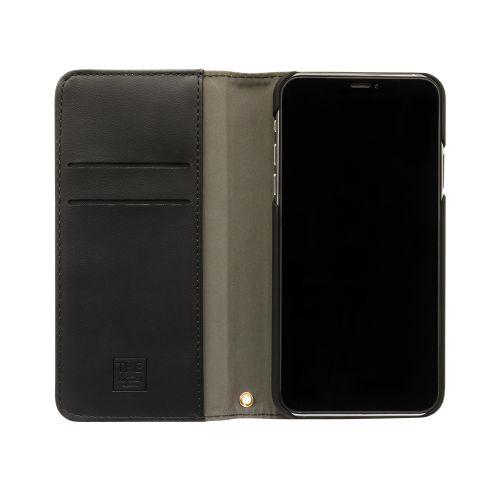 OWLTECHオウルテックiPhone11Pro5.8インチinch用カード収納ポケット付き手帳型ケースOWL-CVIB5803-BKBKブラックxブラック