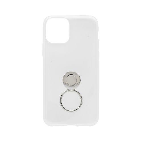 OWLTECHオウルテックiPhone11Pro5.8インチinch用リング付きソフトケースOWL-CVIB5805-CLクリア