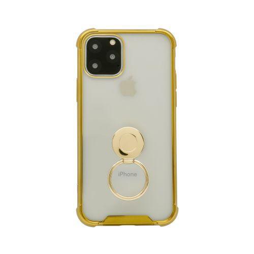 OWLTECHオウルテックiPhone11Pro5.8インチinch用リング付耐衝撃ケースOWL-CVIB5807-GOゴールド