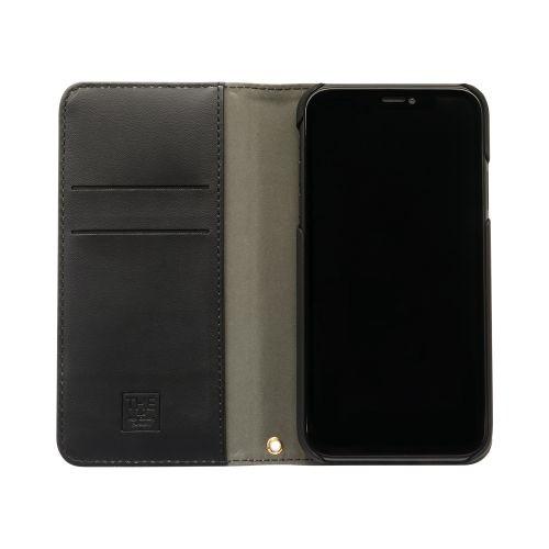 OWLTECHオウルテックiPhone116.1インチ用カード収納ポケット付き手帳型ケースOWL-CVIB6103-BKBKブラックxブラック