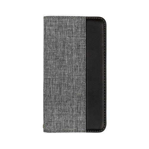 OWLTECHオウルテックiPhone116.1インチ用カード収納ポケット付き手帳型ケースOWL-CVIB6103-GYBKグレーxブラック