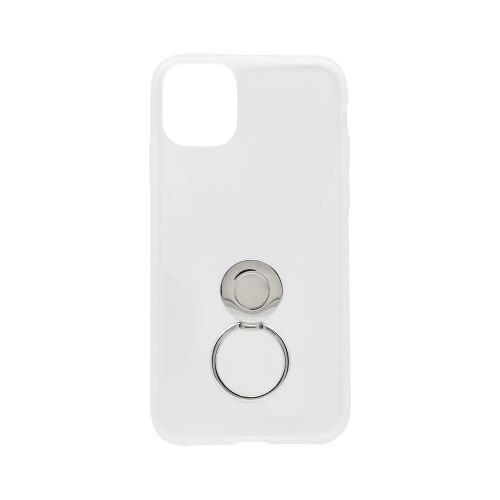 OWLTECHオウルテックiPhone116.1インチ用リング付きソフトケースOWL-CVIB6105-CLクリア