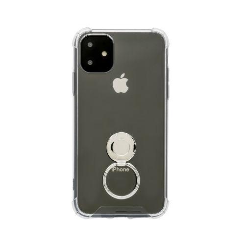 OWLTECHオウルテックiPhone116.1インチ用リング付耐衝撃ケースOWL-CVIB6107-CLクリア