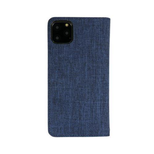 OWLTECHオウルテックiPhone11ProMax6.5インチ用カード収納ポケット付き手帳型ケースOWL-CVIB6503-NVBKネイビーxブラック