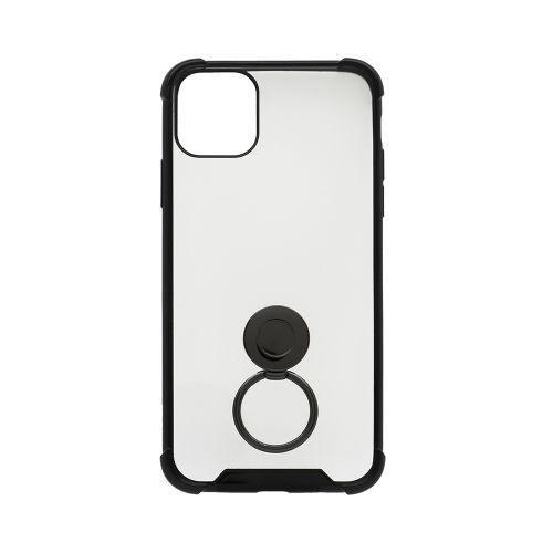 OWLTECHオウルテックiPhone11ProMax6.5インチ用リング付耐衝撃ケースOWL-CVIB6507-BKブラック