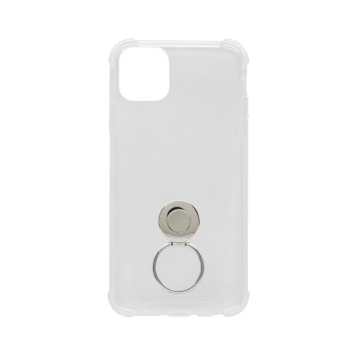 OWLTECHオウルテックiPhone11ProMax6.5インチ用リング付耐衝撃ケースOWL-CVIB6507-CLクリア