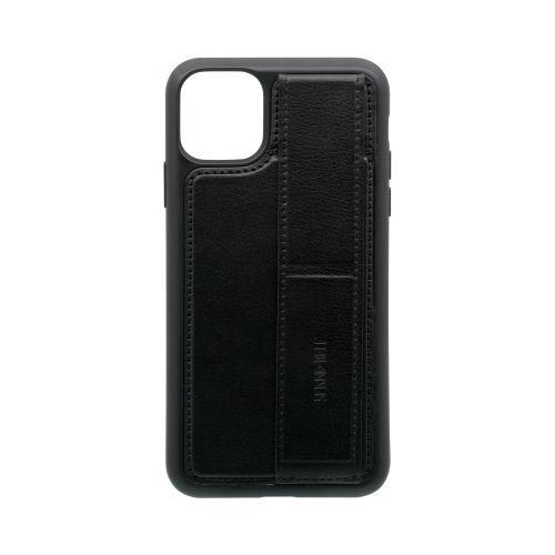 OWLTECHオウルテックiPhone11ProMax6.5インチ用スタンドベルト付耐衝撃ケースOWL-CVIB6508-BKブラック