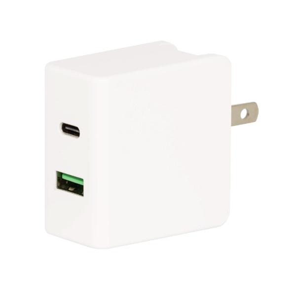 グリーンハウスGREENHOUSEAC-USBアダプタ2PUSBCケーブル1m18W出力対応ホワイトGH-ACU2PA-WH[2ポート/USBPowerDelivery対応]