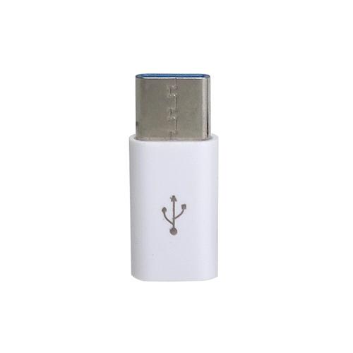 GROOVYグルービー[USB-Cオス→メスmicroUSB]2.0変換アダプタ充電・転送CAD-P1Wホワイト[CADP1W]