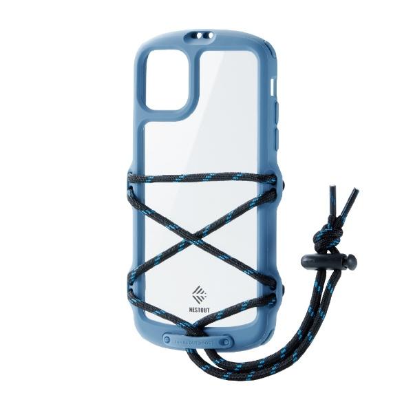 エレコムELECOMiPhone11NESTOUTFes&CampスモーキーブルーPM-A19CNESTFBU
