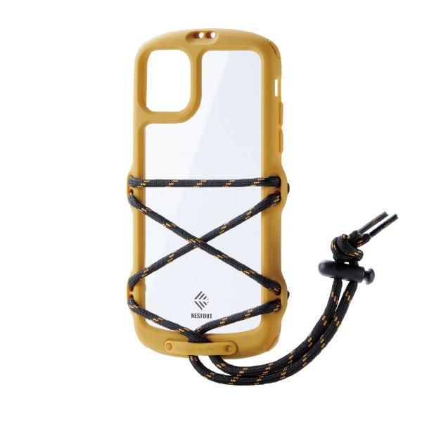 エレコムELECOMiPhone11NESTOUTFes&CampイエローPM-A19CNESTFYL