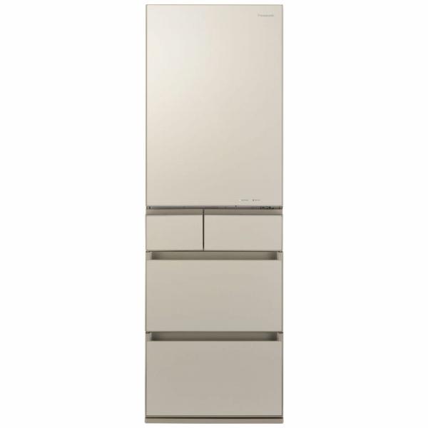 パナソニックPanasonic《基本設置料金セット》NR-E455PXL-N冷蔵庫PXタイプサテンゴールド[5ドア/左開きタイプ/450L][冷蔵庫大型NRE455PXLN]