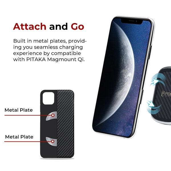 AREAエアリアPITAKAiPhone11Pro用アラミドケースKI1101KI1101ブラック