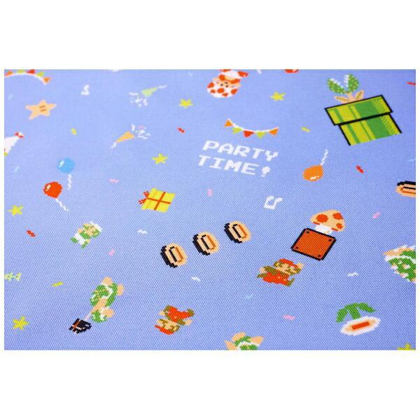 任天堂販売NintendoSalesスーパーマリオホーム&パーティテーブルクロス(8-bitパーティ柄[ブルー])