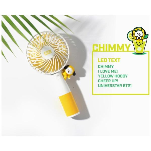 ソロモン商事SOLOMONRHF-BT21-CMLEDLED携帯扇風機BT21CHIMMY
