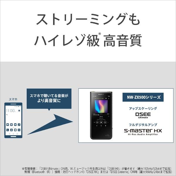 ソニーSONYウォークマンWALKMAN2019年モデルNWZX507SMZXシリーズシルバー[64GB/ハイレゾ対応][ウォークマン本体NWZX507SM]