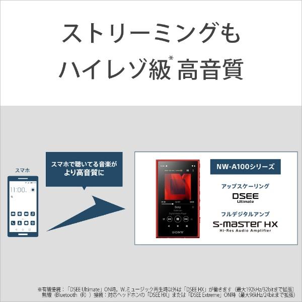 ソニーSONYウォークマンWALKMAN2019年モデルNW-A106RMAシリーズレッド[32GB/ハイレゾ対応][ウォークマン本体][NWA106RM]