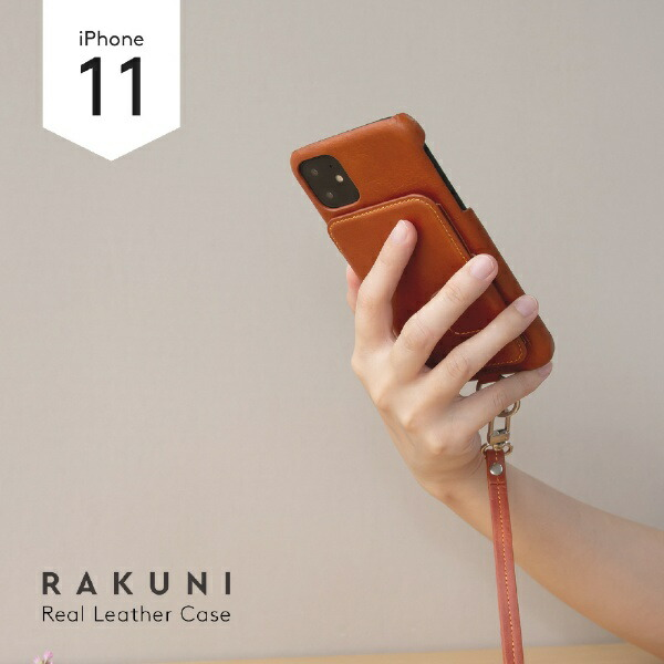 トーモtoomoRAKUNILeatherCaseforiPhone11rak-19ipm-carキャラメルブラウン