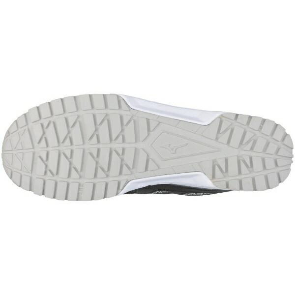 ミズノmizuno24.5cm靴幅:3Eメンズ安全靴オールマイティES31L(ブラック×ホワイト)F1GA1903【JSAA・普通作業用(A種)認定品耐滑プロテクティブスニーカー】