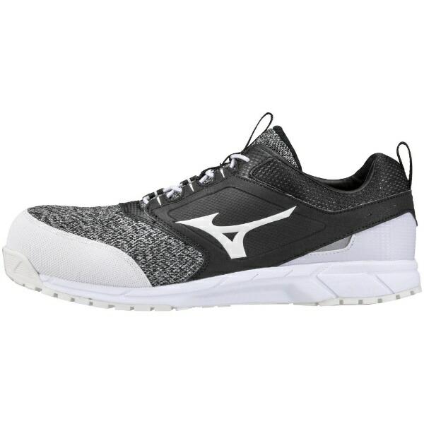ミズノmizuno28.0cm靴幅:3Eメンズ安全靴オールマイティES31L(ブラック×ホワイト)F1GA1903【JSAA・普通作業用(A種)認定品耐滑プロテクティブスニーカー】