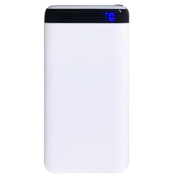 オズマOSMAモバイルバッテリーホワイトLUCMM100CCWH[10000mAh/2ポート/充電タイプ]