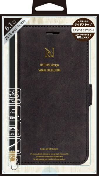 ナチュラルデザインNATURALdesigniPhone116.1インチ専用手帳型ケースStyleNaturalBlackiP19_61-VS03