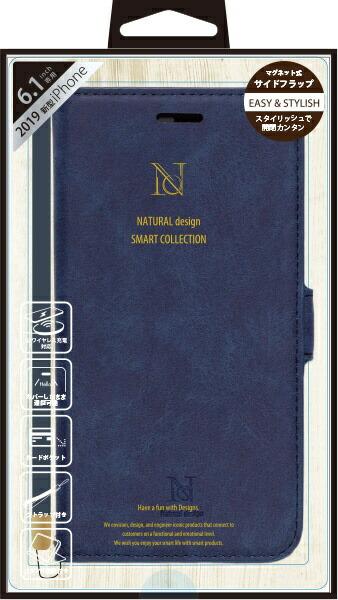 ナチュラルデザインNATURALdesigniPhone116.1インチ専用手帳型ケースStyleNaturalBlueiP19_61-VS07