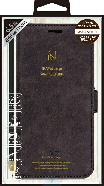 ナチュラルデザインNATURALdesigniPhone11ProMax6.5インチ専用手帳型ケースStyleNaturalBlackiP19_65-VS03