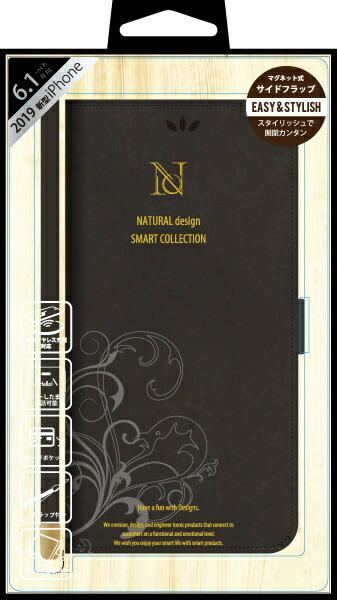 ナチュラルデザインNATURALdesigniPhone116.1インチ専用手帳型ケースSMARTCOVERBLACKiP19_61-SC01