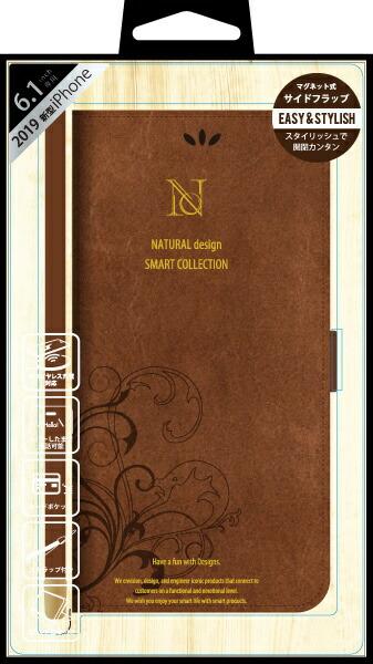 ナチュラルデザインNATURALdesigniPhone116.1インチ専用手帳型ケースSMARTCOVERBROWNiP19_61-SC02