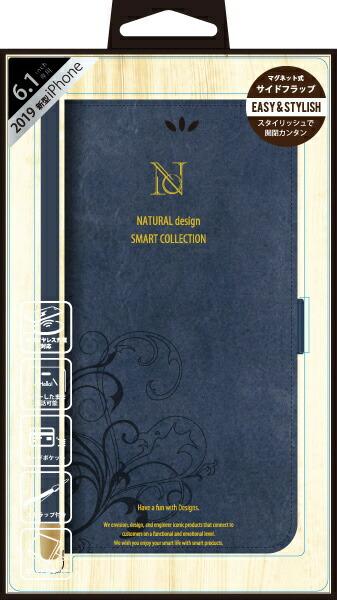 ナチュラルデザインNATURALdesigniPhone116.1インチ専用手帳型ケースSMARTCOVERNAVYiP19_61-SC03