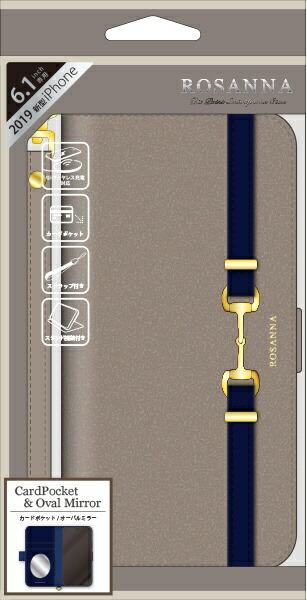 ナチュラルデザインNATURALdesigniPhone116.1インチ専用手帳型ケースROSANNAGRAYiP19_61-RN01