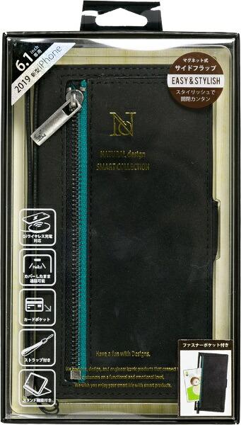 ナチュラルデザインNATURALdesigniPhone116.1インチ専用手帳型ケースz-lineBlackiP19_61-ZL01