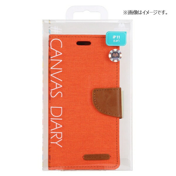 ビジョンネットMercuryCANVASDIARYCaseiPhone11VNCAN11PORオレンジ